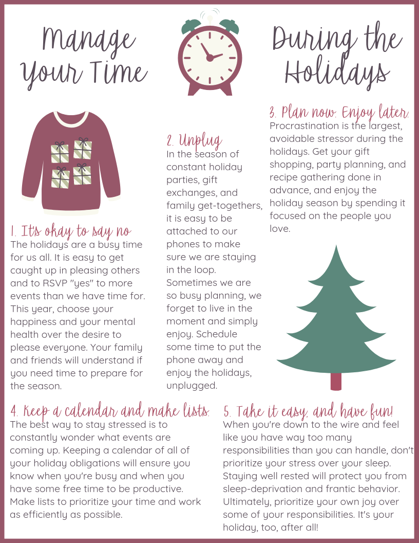 Manage Your Time This Holiday Season