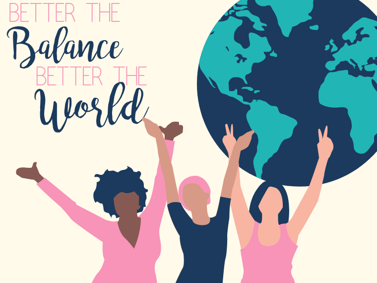 "International Women's Day ""Better the balance. Better the world."""