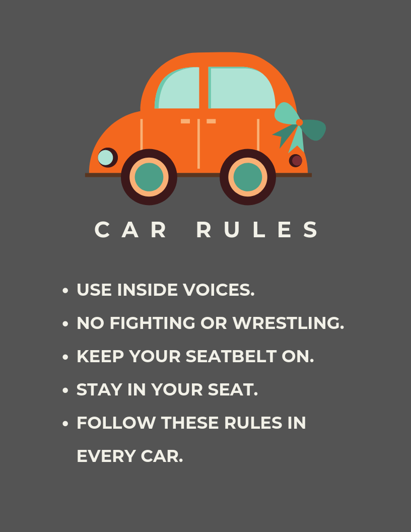 Download this printable for your child-aged passengers.