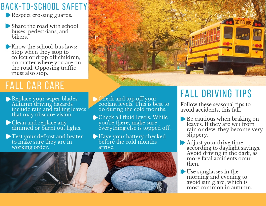 Auto safety tips for fall