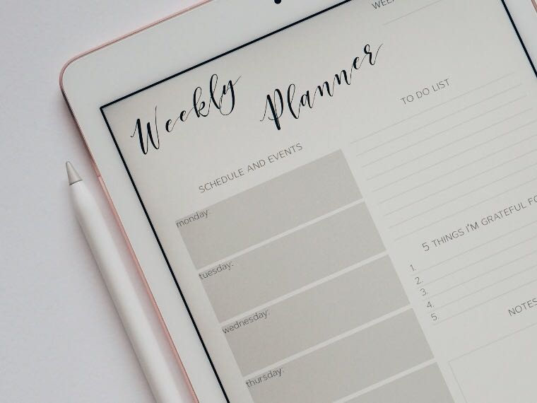 Weekly planner app