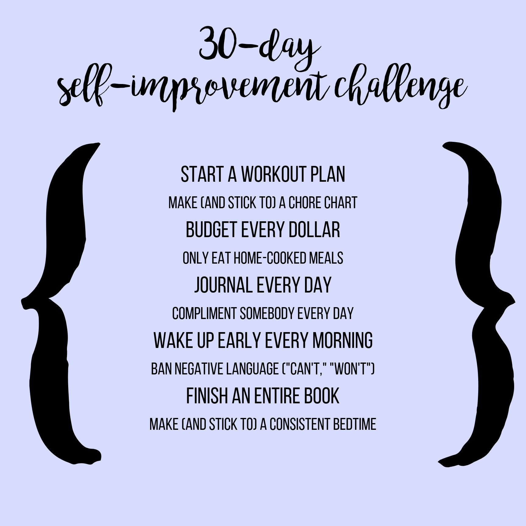 30-Day Self Improvement Challenge